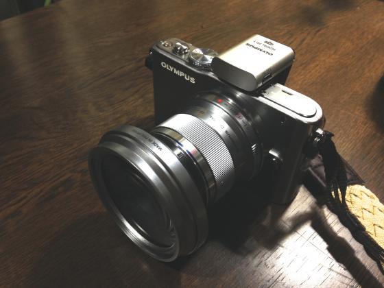 カメラに装着した PP-1