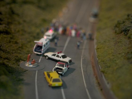 高速道路で事故?