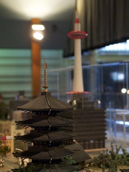 東寺と京都タワー